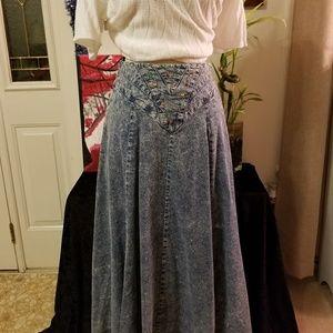 Retro Stonewashed Skirt